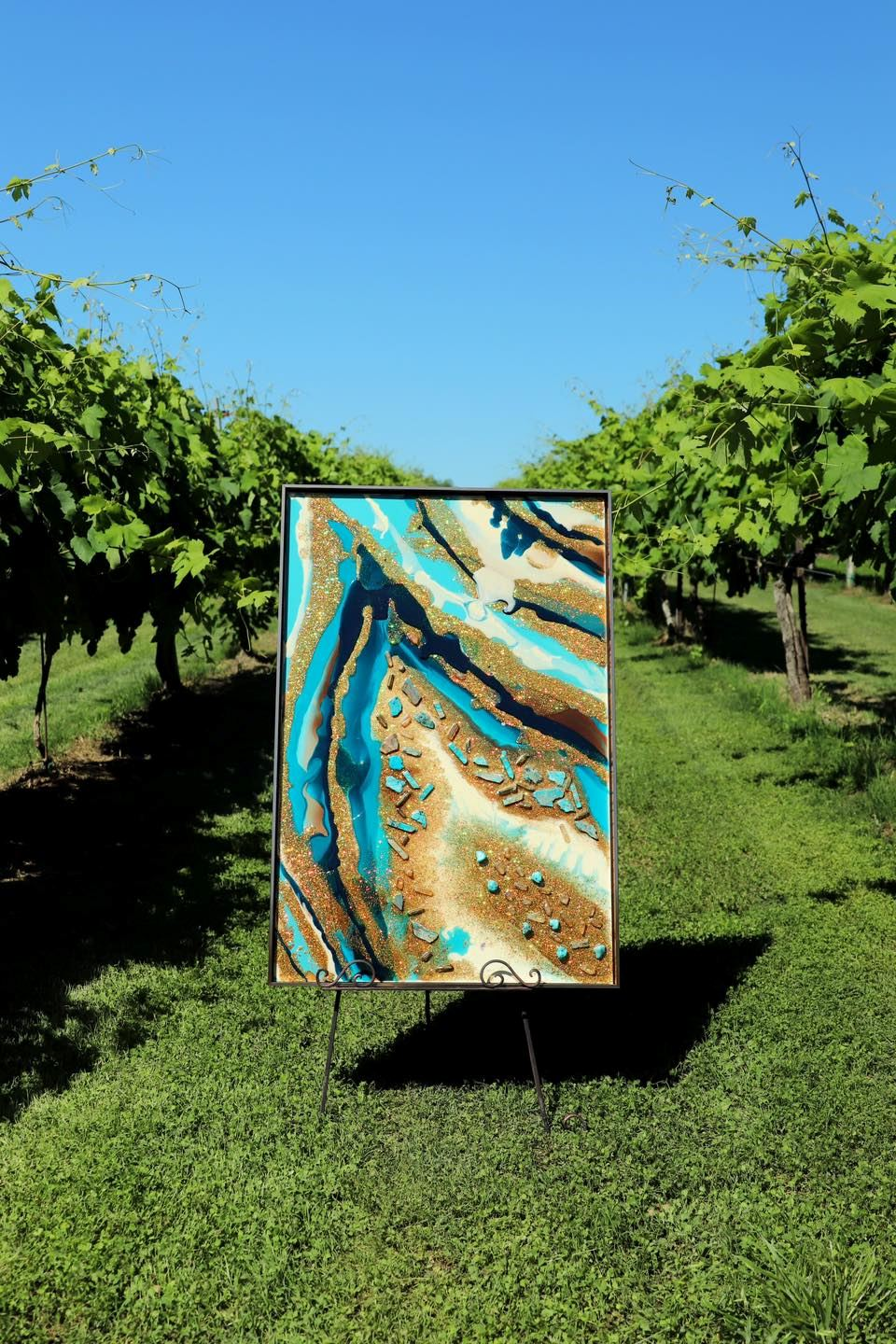 """1st Place: Kit Rae """"Turquoise Geode"""""""
