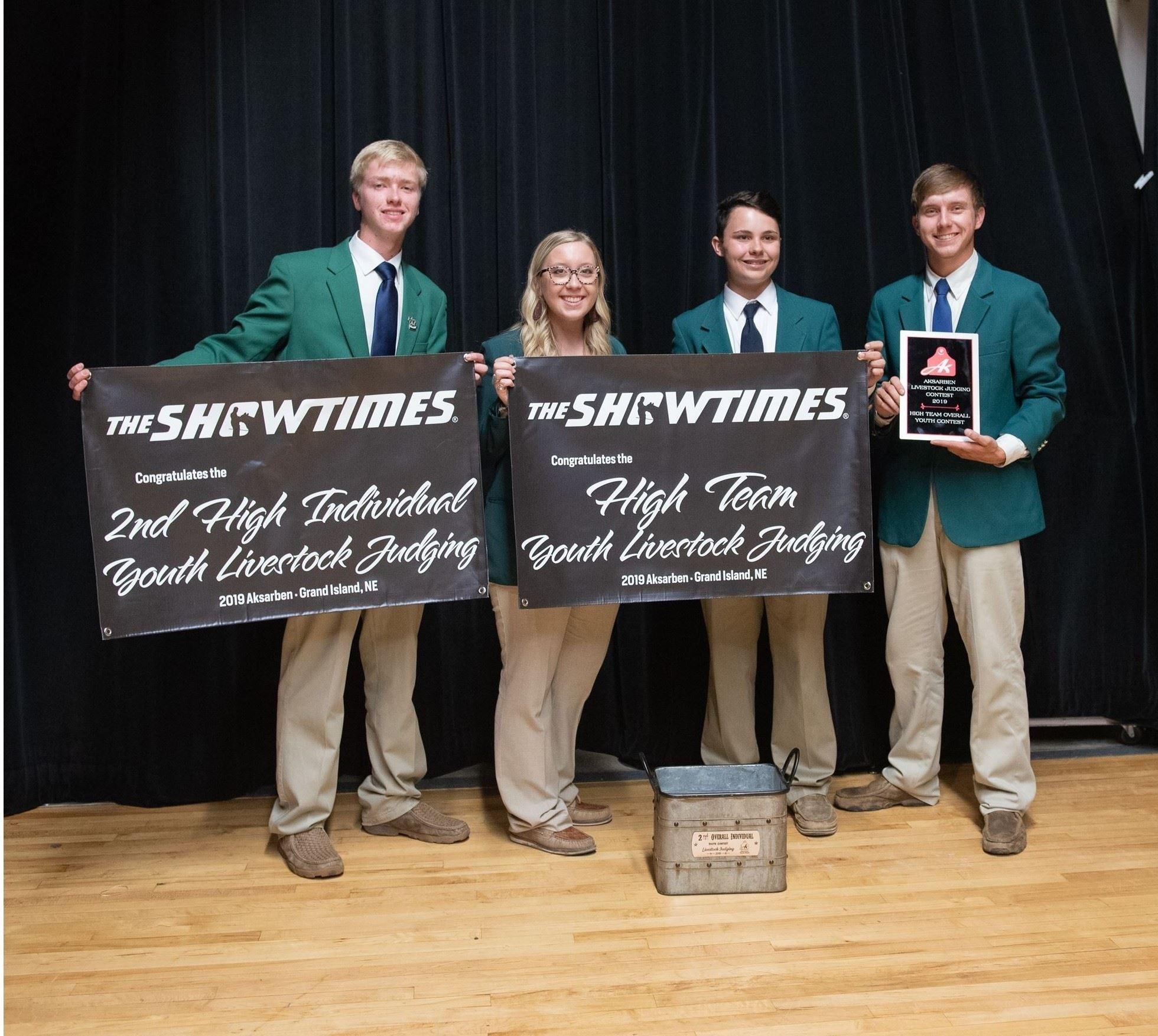 2019 High Team Youth Livestock Judging