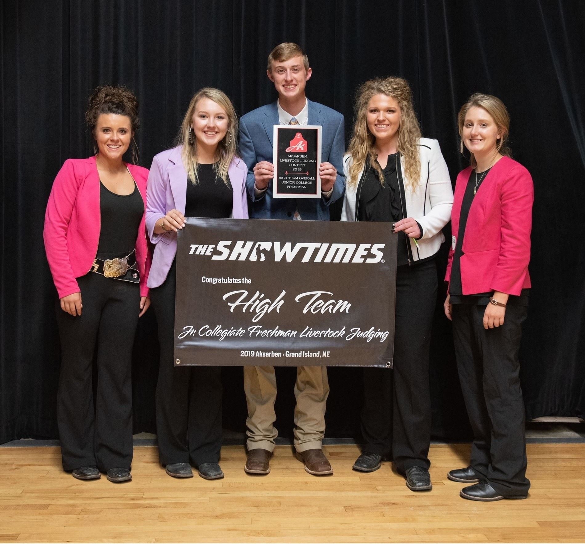 2019 High Team Jr. Collegiate Freshman Livestock Judging
