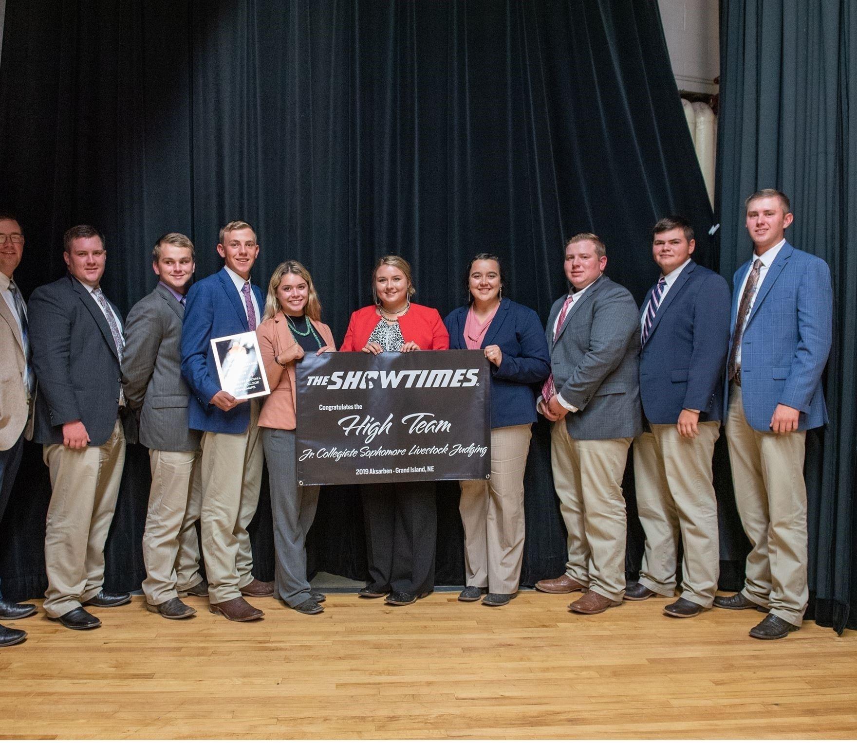 2018 High Team Jr. Collegiate Sophomore Livestock Judging
