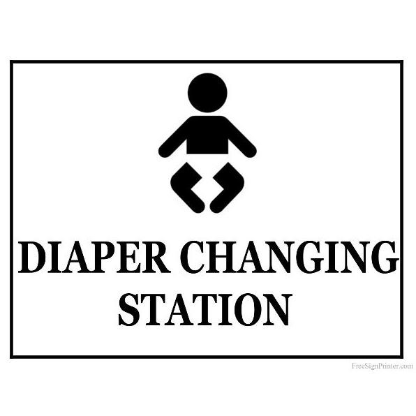 Sign for a Diaper Changing Station