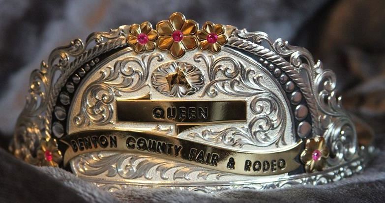 Rode Queen silver hat band