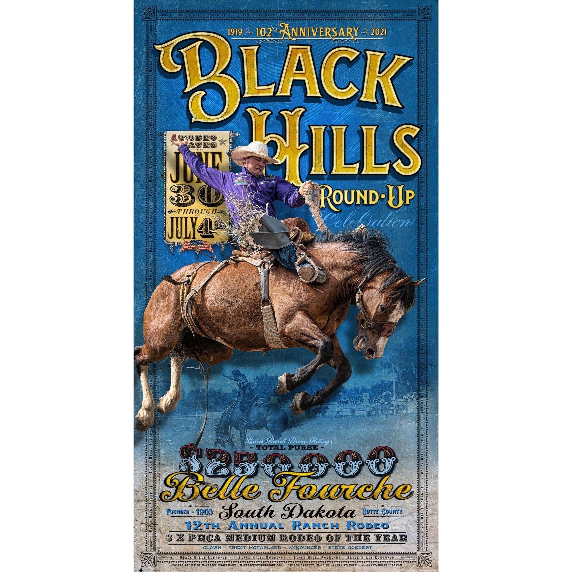 102nd Black Hills Roundup Commemorative Poster