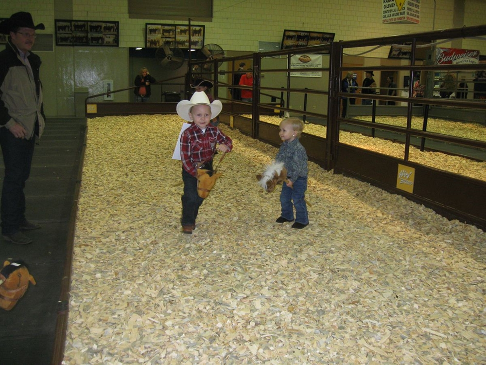 our oldest, Conner (then 3 1/2yrs in 2012) and his sister, Chloe (1 3/4yrs) - she's helping Conner warm up for the big event