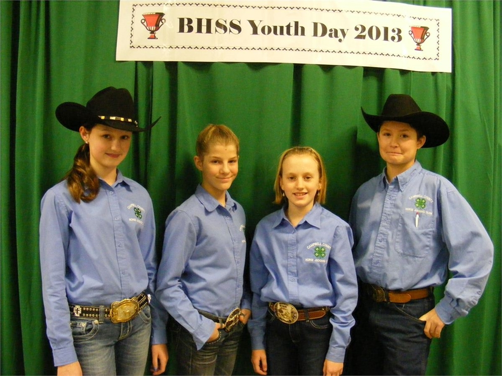 Kenna, Hayly, Raelyn & Marty from Campbell Co. Wyoming competed in Hippology and Horse Quiz Bowl