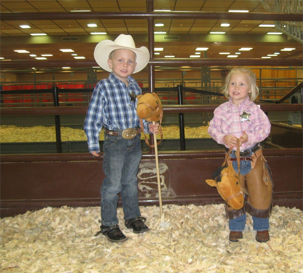 Conner and Chloe - awaiting their turn  1-26-2013
