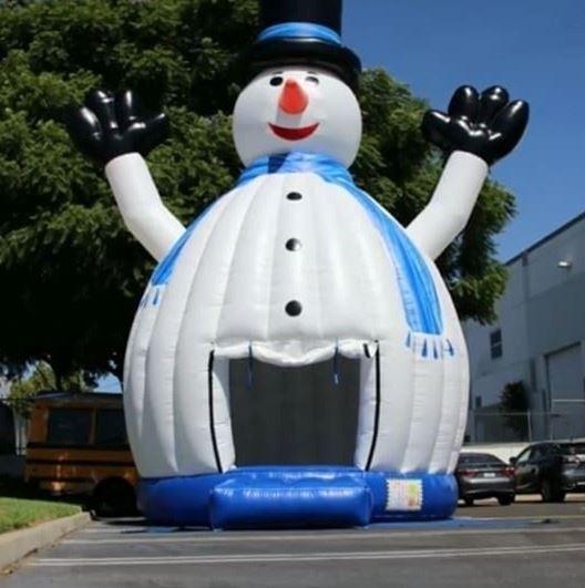 30FT Tall Snow Man Bouncer