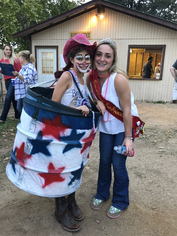 Abigail Ramirez wins 1st place in the 2018 Rodeo Clown Contest. She is a student at Mountain Valley Elementary and loves the comal county fair!