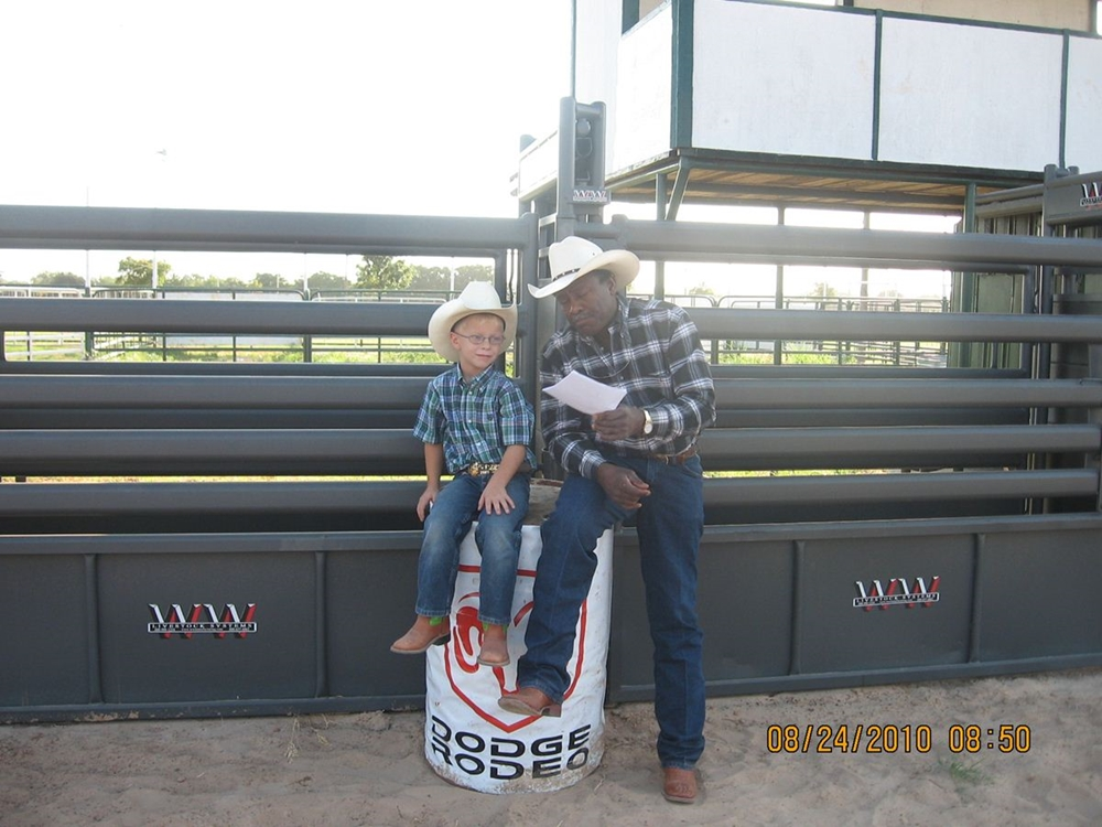 Jack and Leon the rodeo clown