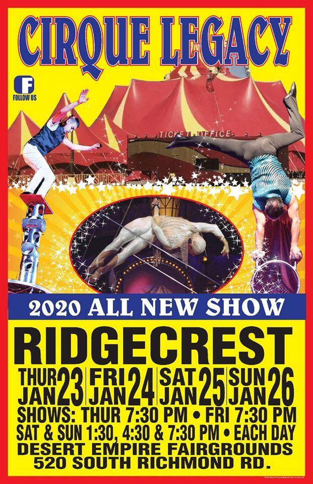 Jan. 23rd-26th: Cirque Legacy