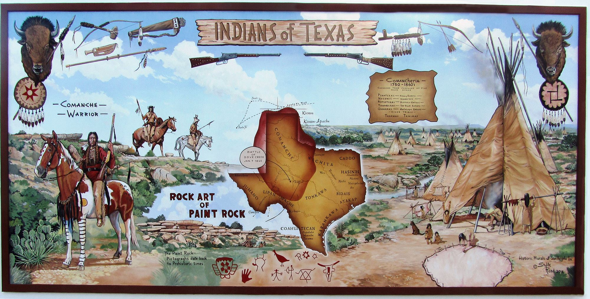 Indians of Texas Mural