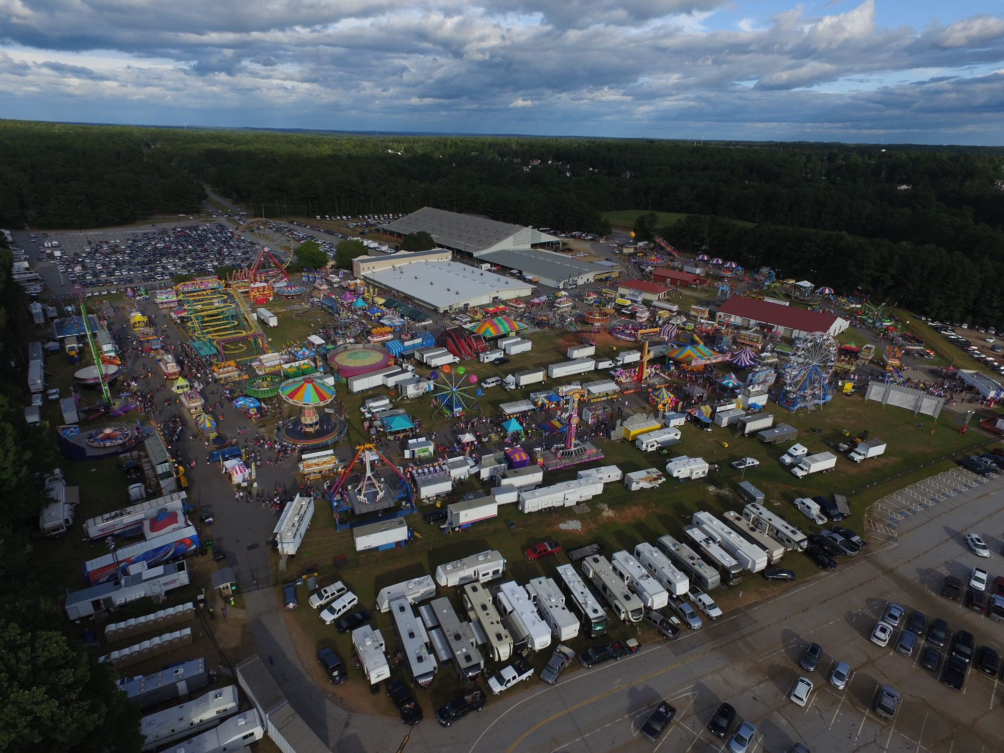 Fair from drone shot 500 feet high