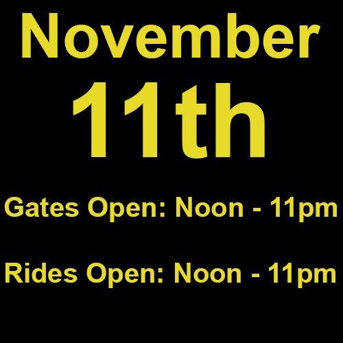Thursday, November 11th