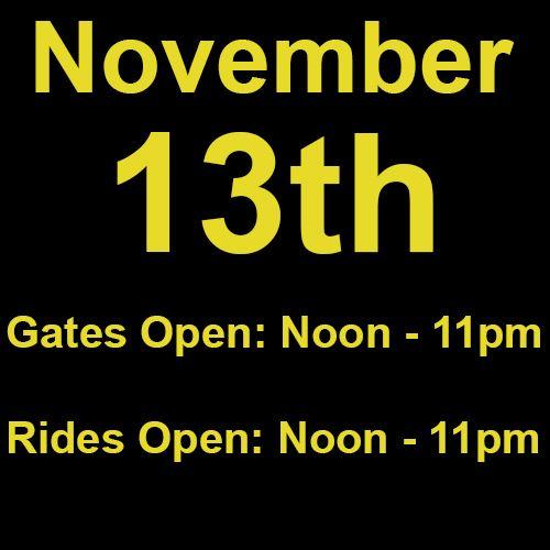 Saturday, November 13th