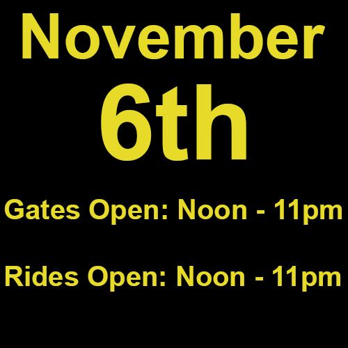 Saturday, November 6th