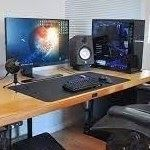 Open Home Office and Computer