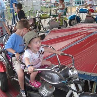 Kids at the fair