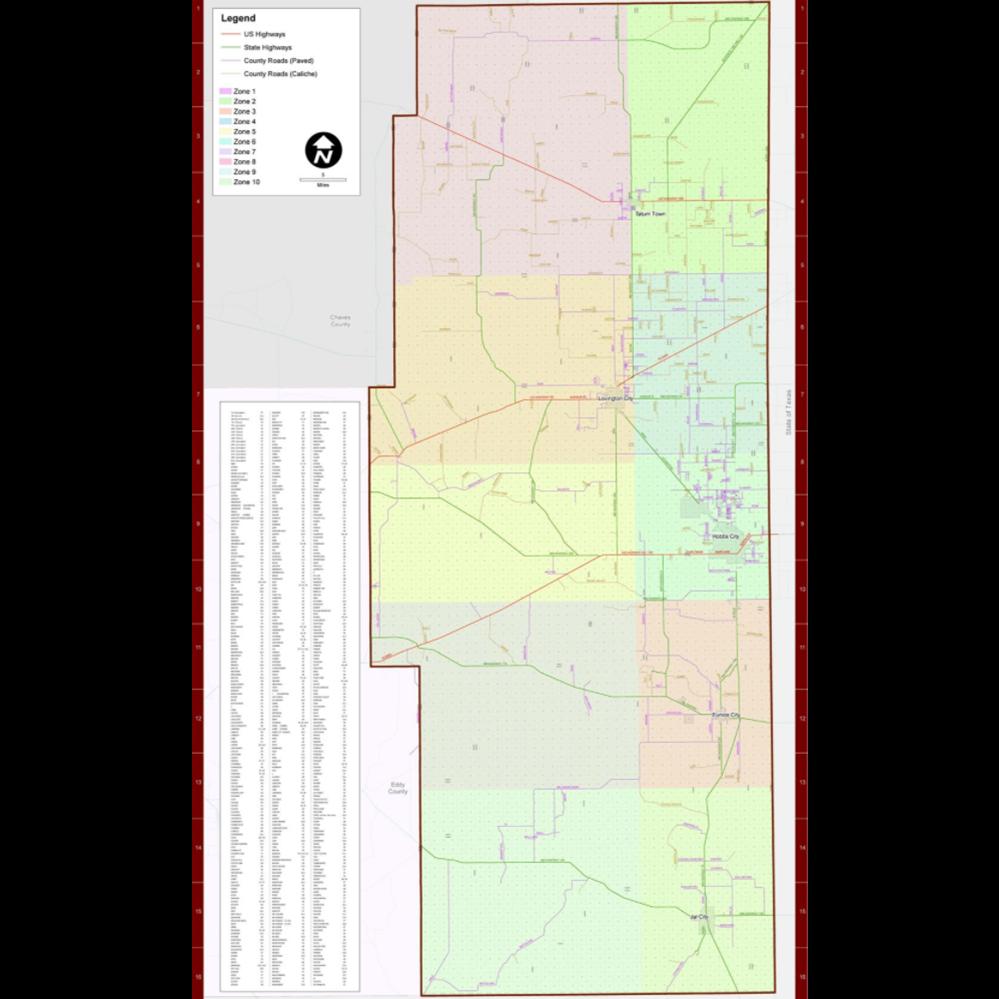 Lea County Road Map 2020