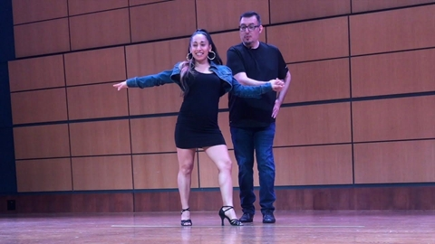 Salsa Dancing with Jennifer Gonzales and Martin Ramirez