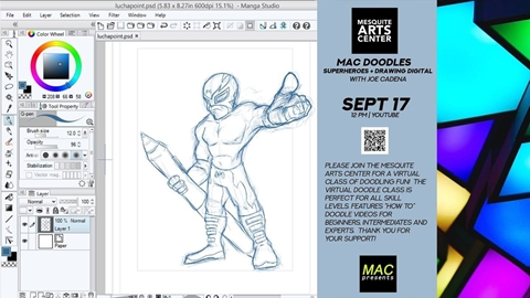 MAC Doodles: Superheroes and Digital Art