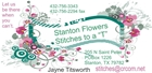 """Stitches to a """"t"""" & Stanton Flowers"""