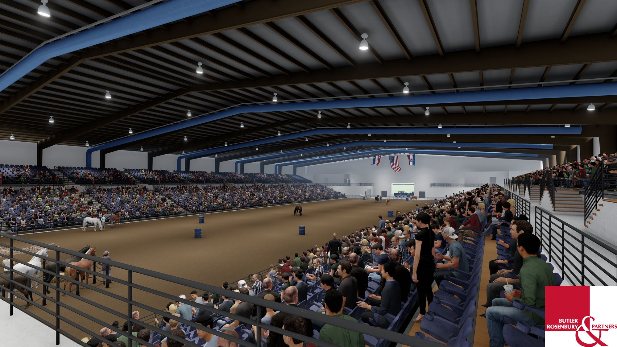 New arena rodeo rendition