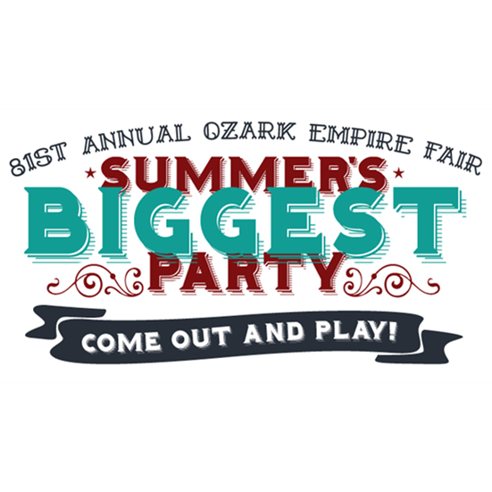 2017 Ozark Empire Fair Summer's Biggest Party Come Out And Play Logo