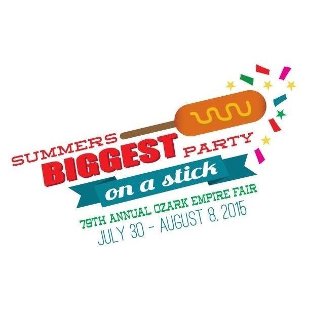 2015 Ozark Empire Fair Summer's Biggest Party On a Stick Logo