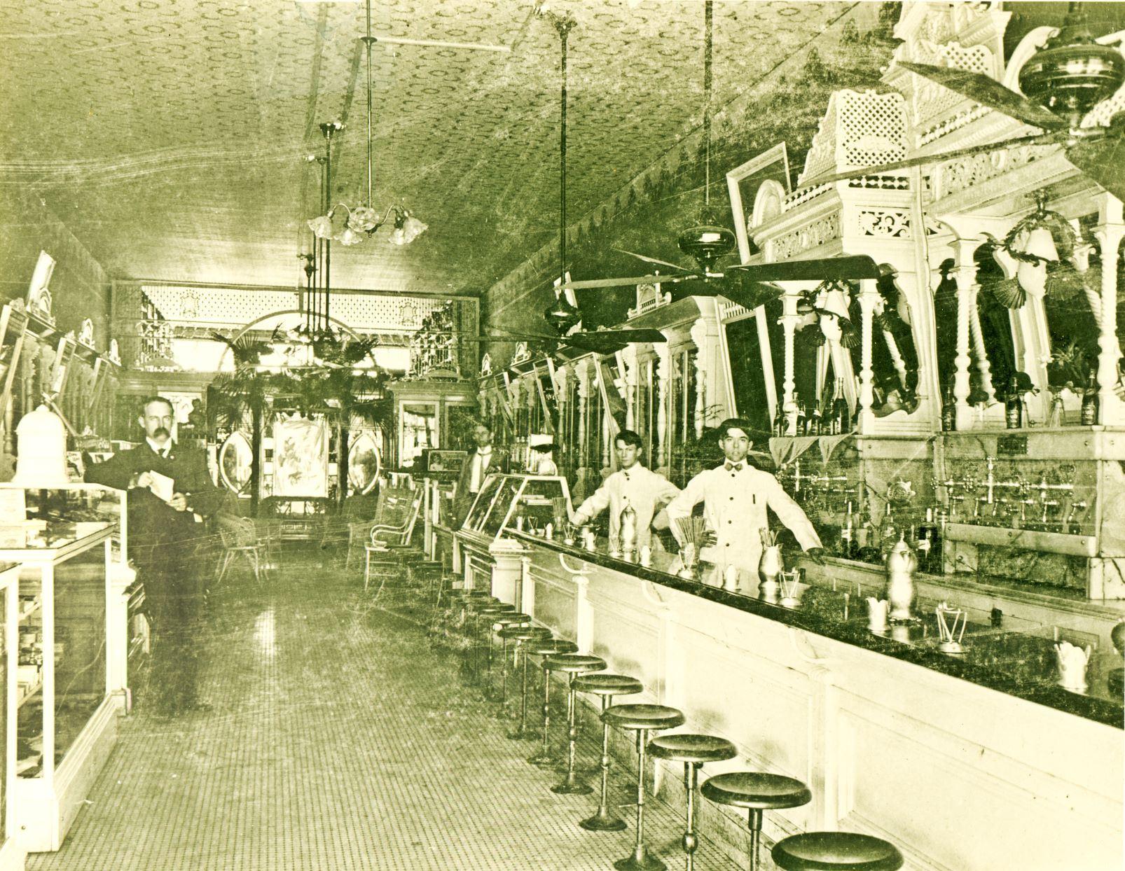Interior of Bratton Drug - Early 1900's
