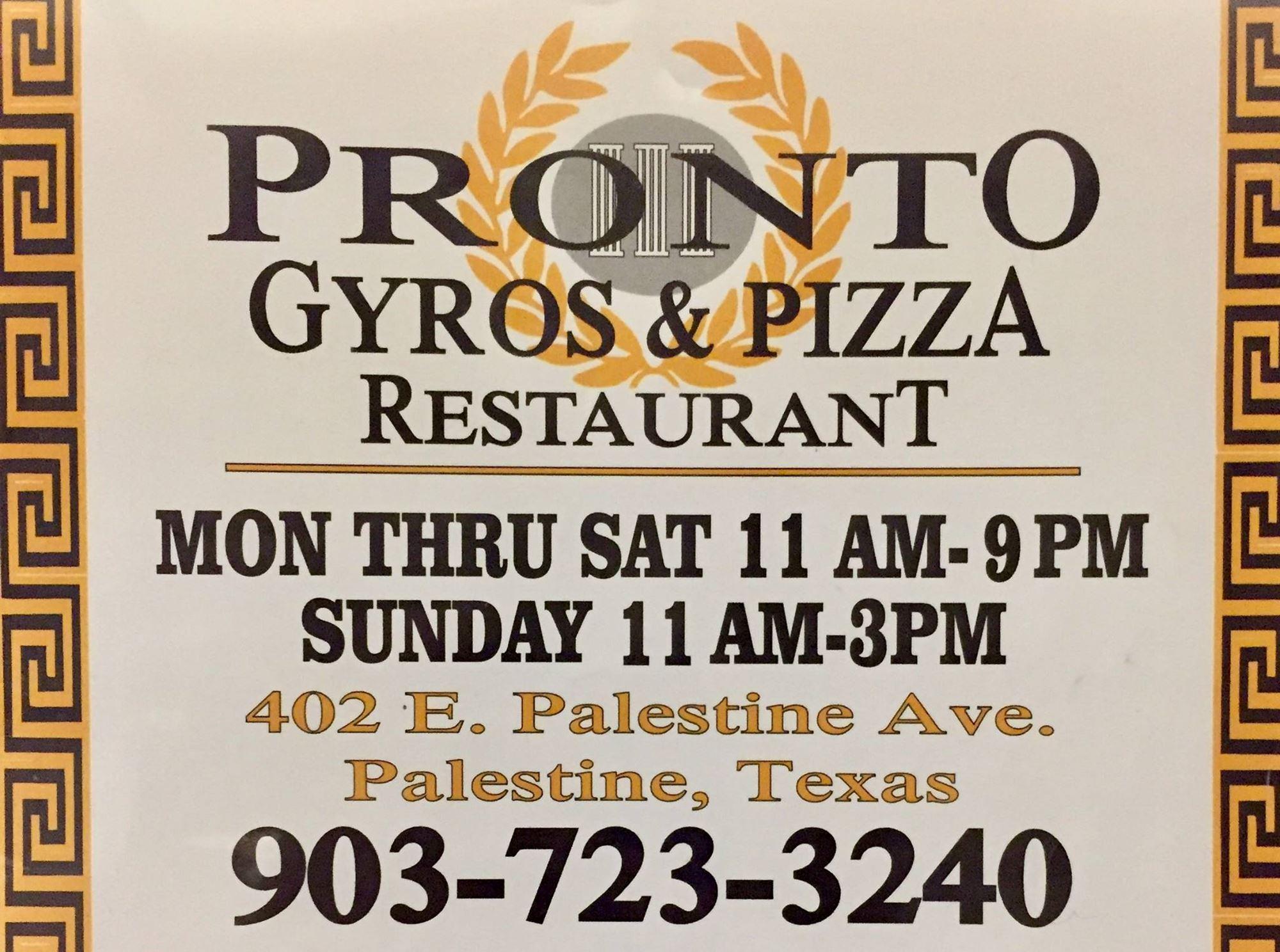 Pronto Gyros & Pizza