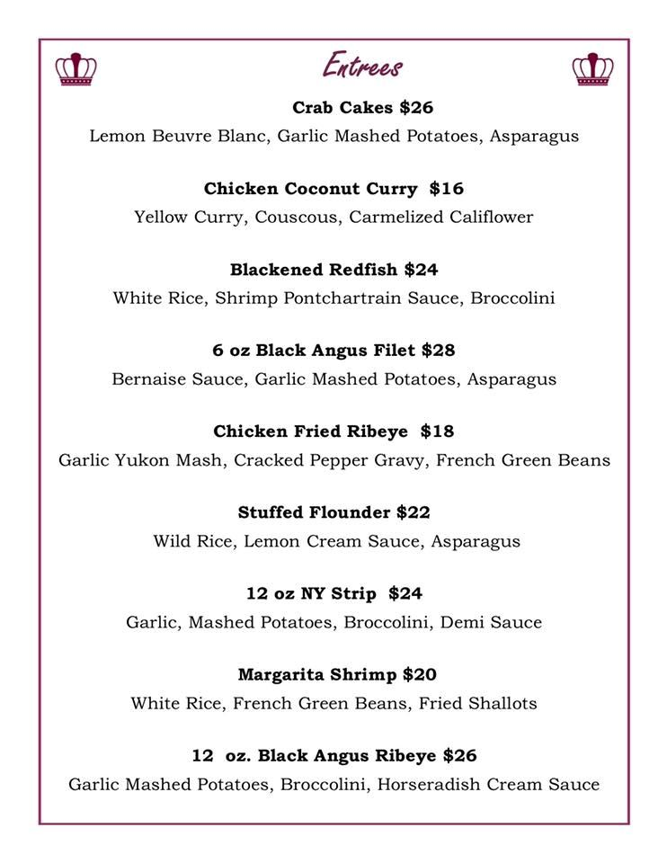 Check out the Menu!