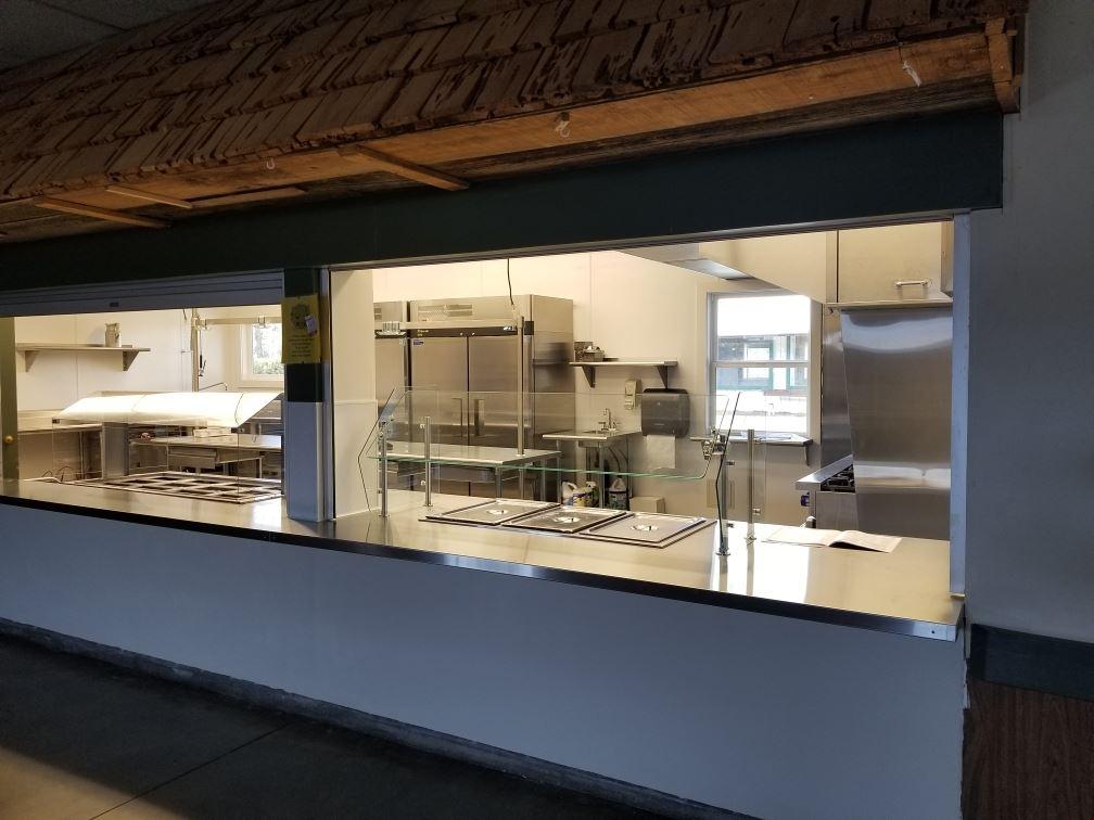 Kitchen Through Serving Windows