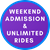 Saturday OR Sunday Admission AND Unlimited Rides