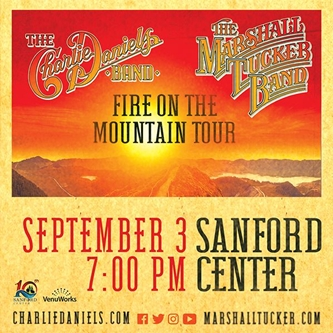 The Sanford Center and VenuWorks present Charlie Daniels Band and The Marshall Tucker Band