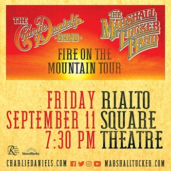 The Grammy Award-Winning Charlie Daniels Band and The Marshall Tucker Band to play Rialto Square