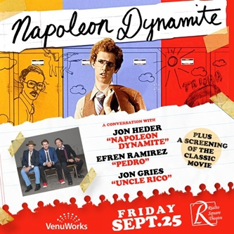 """Cult Comedy """"Napoleon Dynamite"""" Showing and Conversation to be Held at Rialto Square Theatre"""