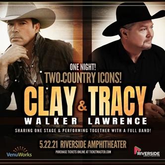 Clay Walker & Tracy Lawrence Open Riverside Amphitheater