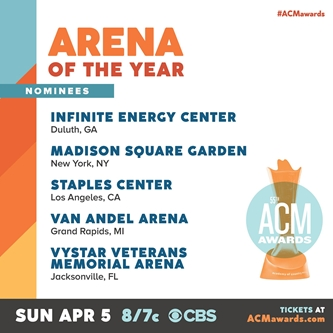 Van Andel Arena Nominated for Venue of the Year at 55th Academy of Country Music Awards