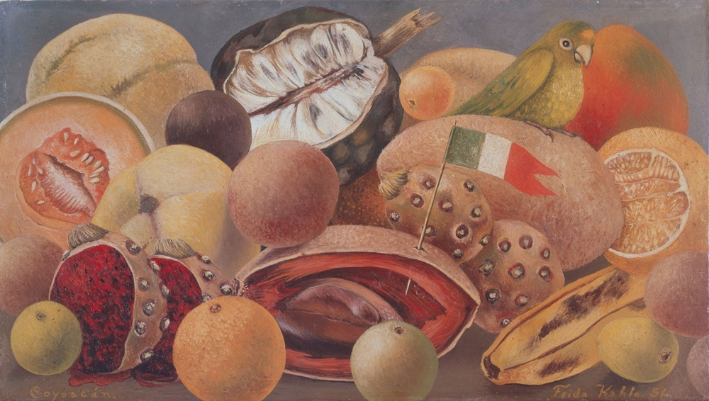Frida Kahlo, Still Life with Parrot and Flag, 1951  Courtesy Dallas Museum of Art