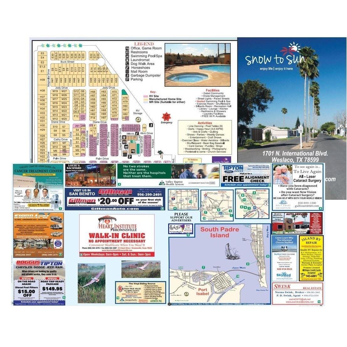 RV Resort Site Maps