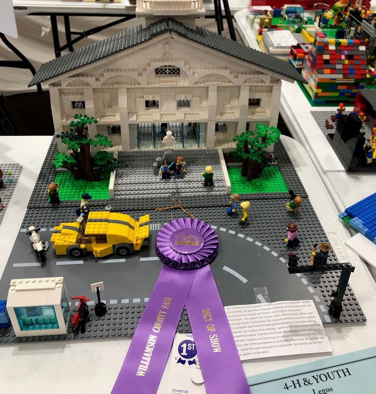 Best of Show Lego entry with link to enter 4-H & Youth divisions.