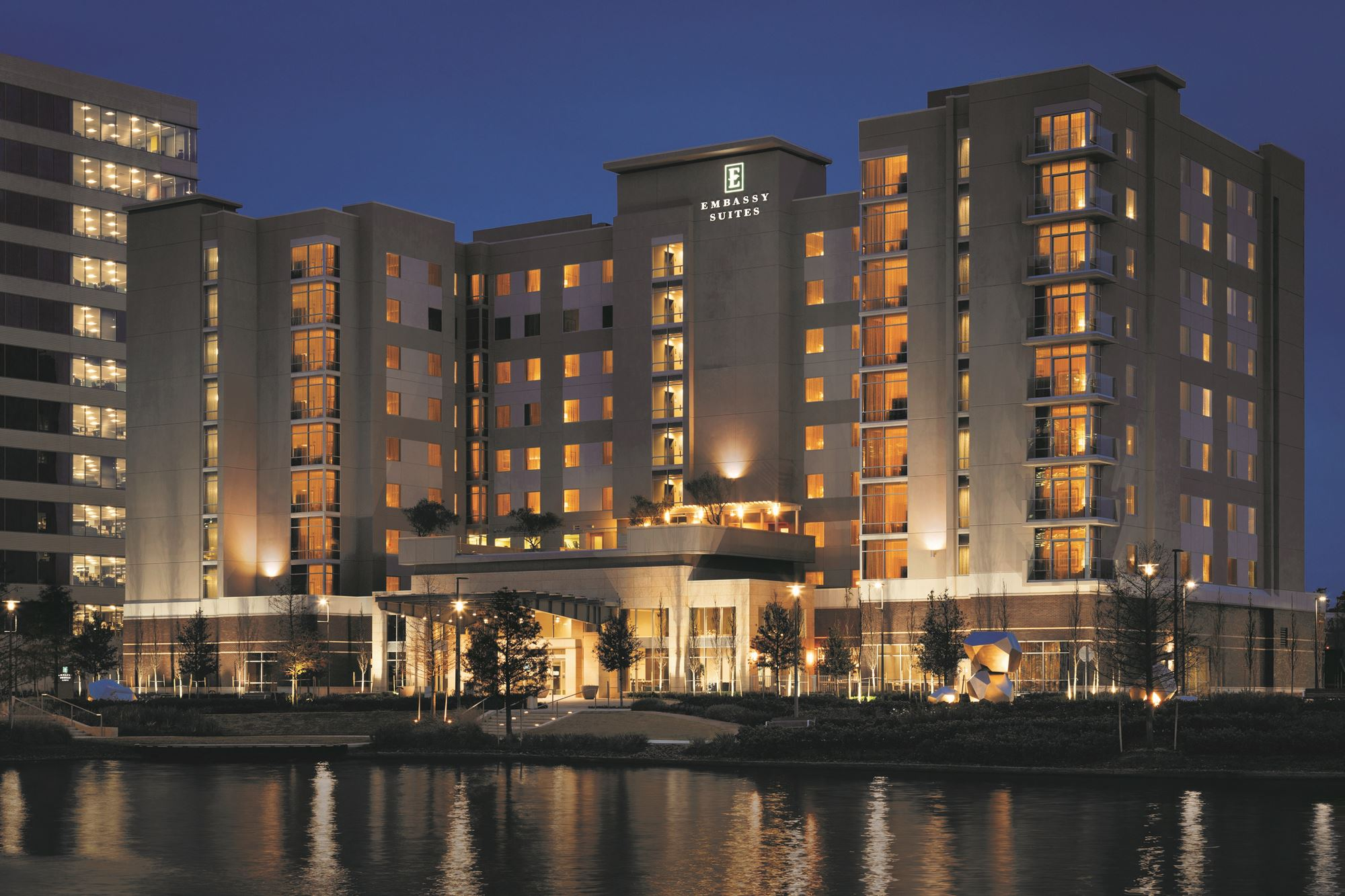 The Embassy Suites by Hilton The Woodlands at Hughes Landing