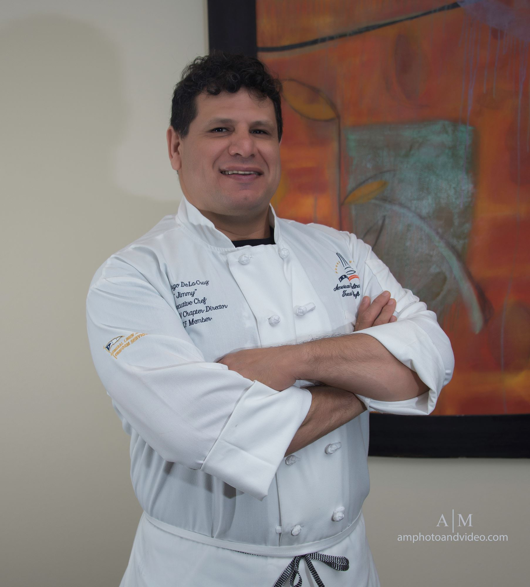 Wine & Food Week past Chef of Chefs 1st runner up, Santiago De La Cruz, Executive Chef of The Woodlands Country Club
